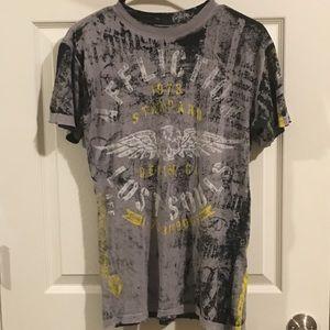 Affliction Men's Reversible T Shirt